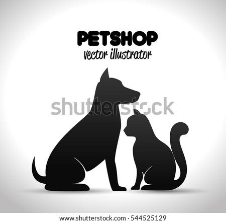 pet shop poster dog and cat