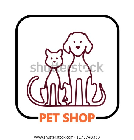 Pet shop vector icon.
