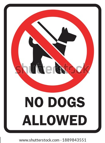 Pet Signs Walking Of Dogs Prohibited On This Property. NO DOGS ALLOWED  Foto stock ©