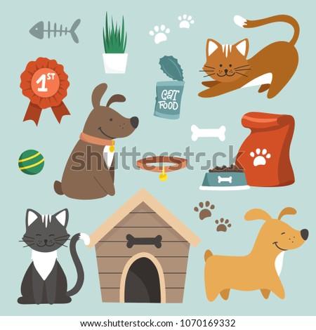 pet store clip art set of