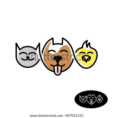pet store logo funny cat  dog