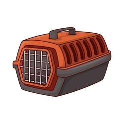 pet transport box isolated icon vector illustration design