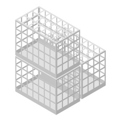 Pet transport cage icon. Isometric of pet transport cage vector icon for web design isolated on white background