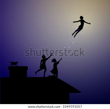 peter pan story  children on