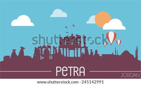 petra jordan skyline silhouette