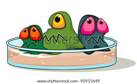 Petri plate with germs