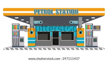 petrol diesel station with pump fuel