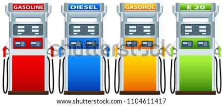 Petrol dispenser design graphic vector