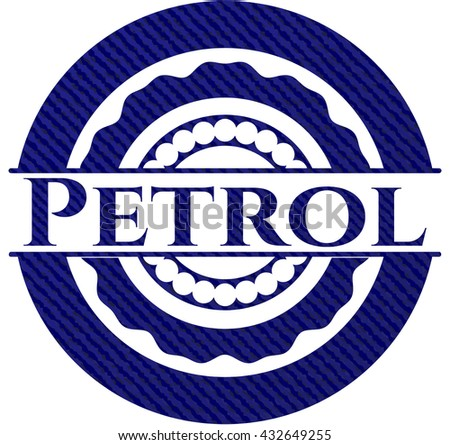 Petrol emblem with denim texture
