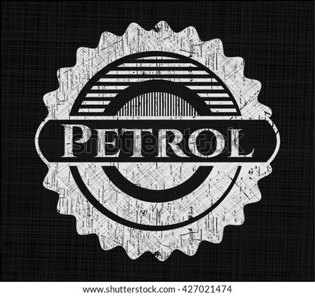 Petrol on blackboard