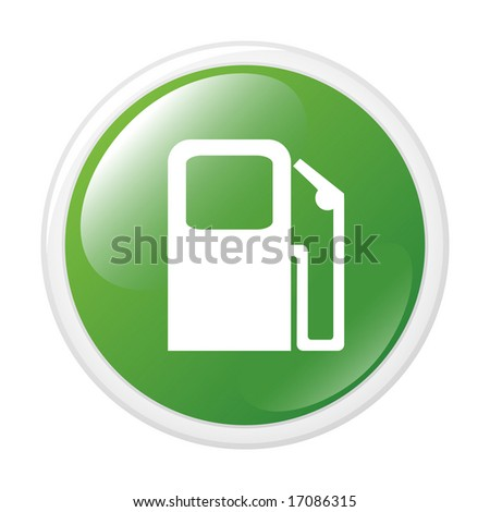 Petrol station. Vector button