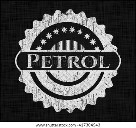 Petrol written on a chalkboard