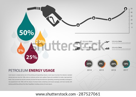 petroleum energy usage infographic in vector eps10