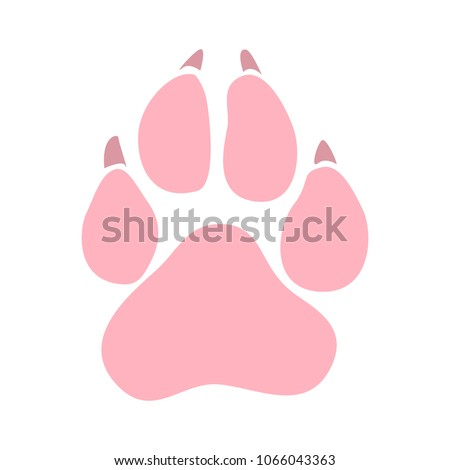 Pets icon, animal paw vector foot print - pet sign symbol