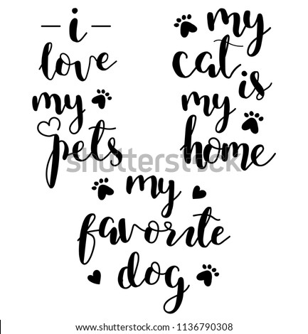 Pets set lettering