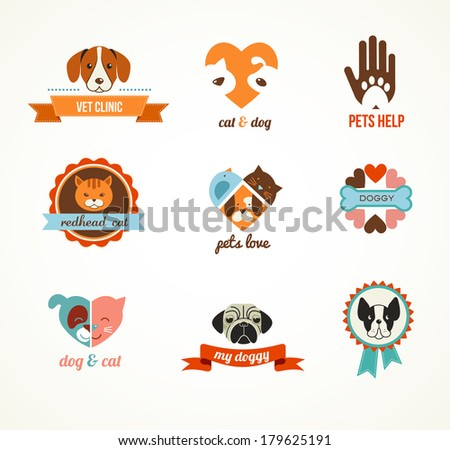 pets vector icons   cats and