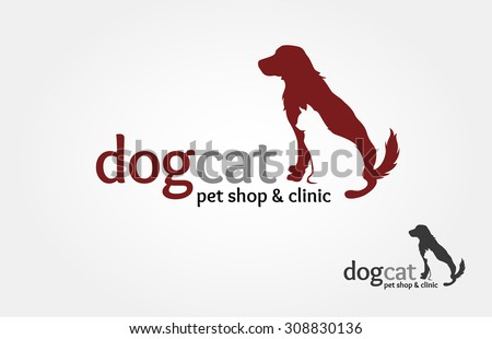pets vector logo template this