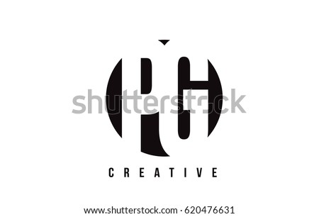PG P G White Letter Logo Design with Circle Background Vector Illustration Template.