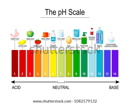 pH scale. Universal Indicator pH. Test Strips use for Track and Monitor pH for Alkaline and Acid levels. Color vector diagram for educational, medical, science use