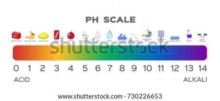 ph scale vector graphic  acid