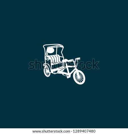 phaeton illustration vector. phaeton illustration on blue background