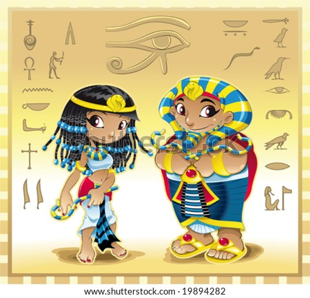 pharaoh and cleopatra with