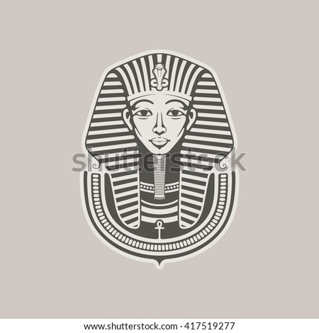 7613dcee3 Pharaoh / Vector illustration #417519277 · Hand-drawn vintage illustration  of the ancient Egyptian Pharaoh's head. Tattoo art ...