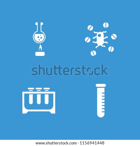 Pharmacology icon. collection of 4 pharmacology filled icons such as test tube. editable pharmacology icons for web and mobile.