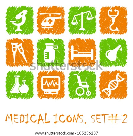 Pharmacy and Health care icons