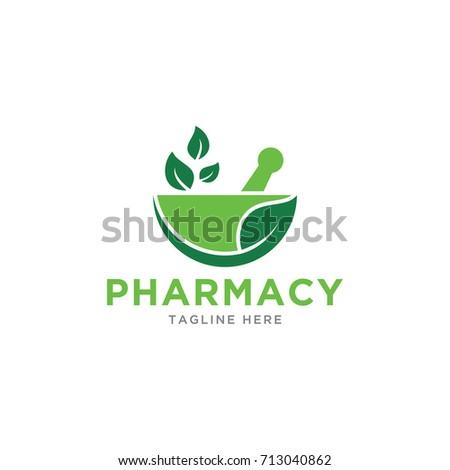 pharmacy design logo template