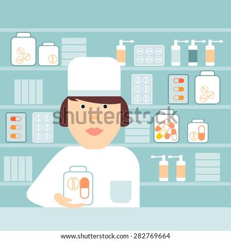 Chemist shop clipart