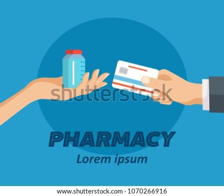 pharmacy flat poster doctor
