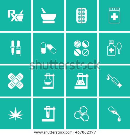 Pharmacy Icons and Medical Icons set vector.