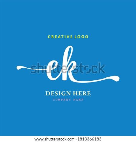 Pharmacy letter EK logo is simple, easy to understand and authoritative Stok fotoğraf ©
