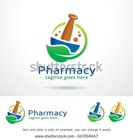 Pharmacy Logo Template Design Vector