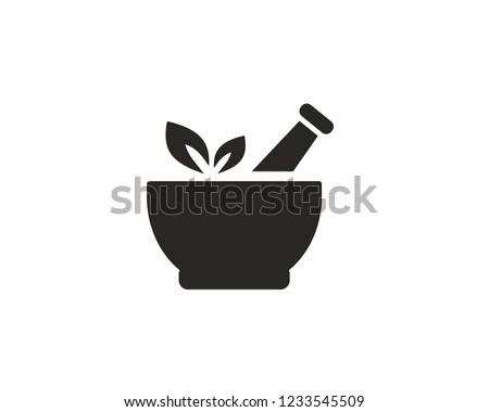 Pharmacy, pestle and mortar icon sign symbol Сток-фото ©