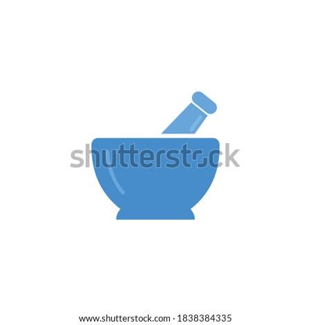 Pharmacy, pestle and mortar icon vector design Stock fotó ©