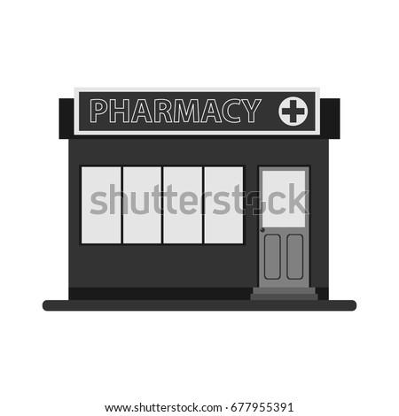 Pharmacy, pharmacy icon. Flat design, vector illustration, vector.