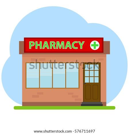 Pharmacy, pharmacy icon, medicine, pills, pharmacist. Flat design, vector illustration, vector.