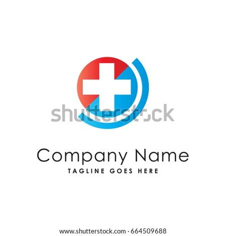 pharmacy plus medical logo template