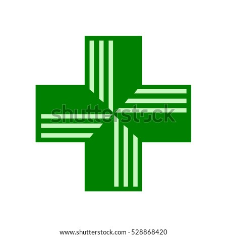 pharmacy sign green cross