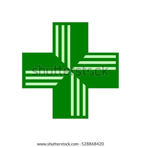 Pharmacy Sign. green cross, Ireland, Spain, Ukraine, United Kingdom