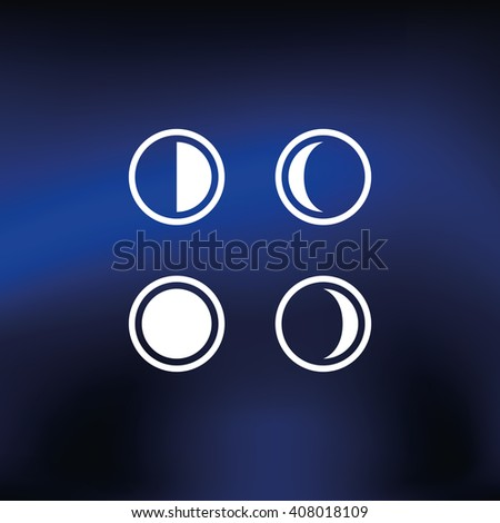 phases of the moon moon icon