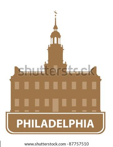 Philadelphia outline. Vector illustration