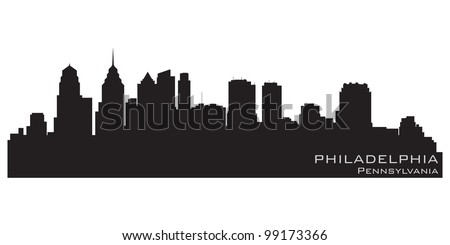 Philadelphia, Pennsylvania skyline. Detailed vector silhouette - stock vector