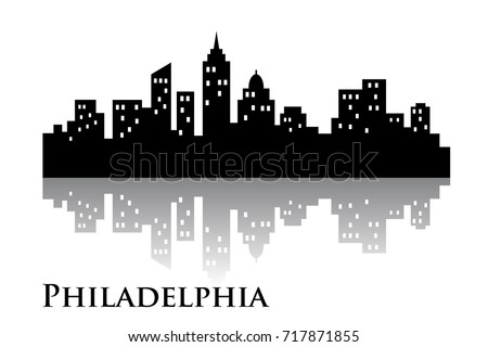 philadelphia skyline city logo vector