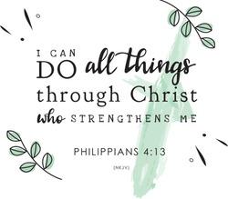 Philippians 4:13 NKJV Bible Verse Quote Design