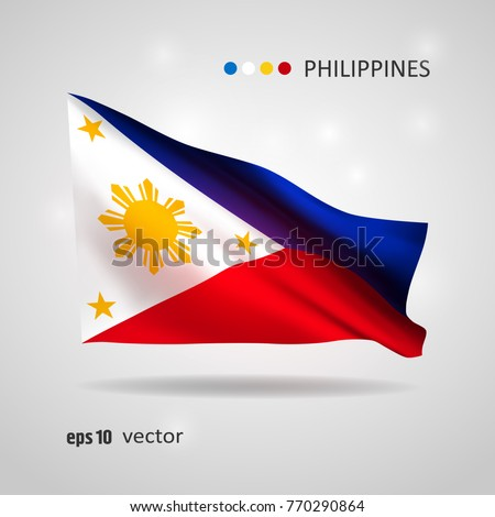 philippines 3d style glowing