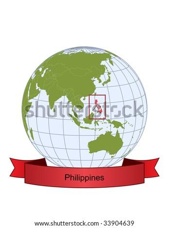 Repertory Philippines Logo. Globe+map+philippines