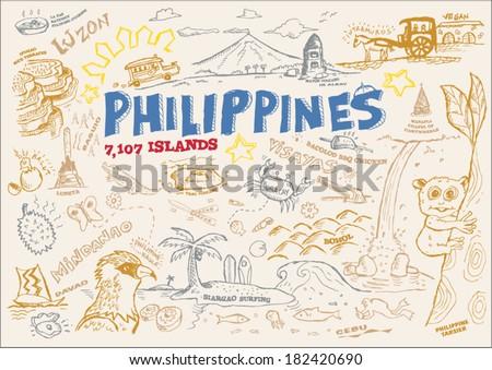 philippines tourism doodle